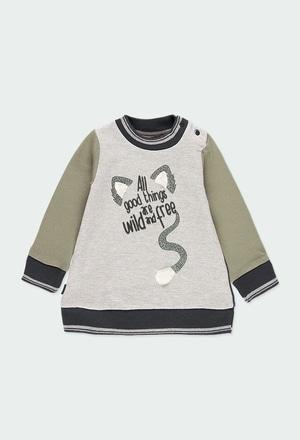 """Vestido felpa """"letras"""" de bebé niña_1"""