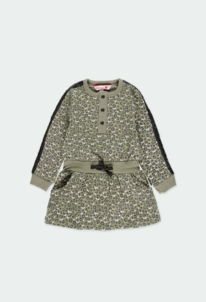 Vestido felpa animal print de bebé niña_1