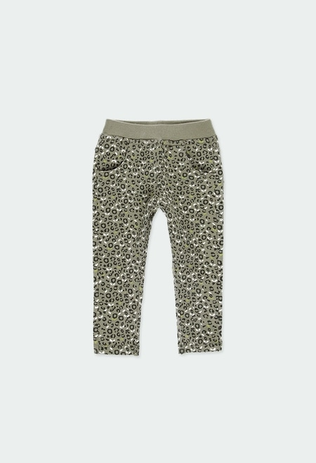 Fleece trousers for baby girl_1