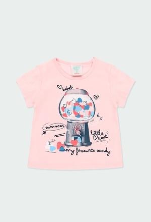 Camiseta punto corazones de bebé niña_1
