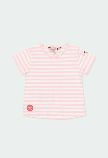 Knit t-Shirt striped for baby girl_1