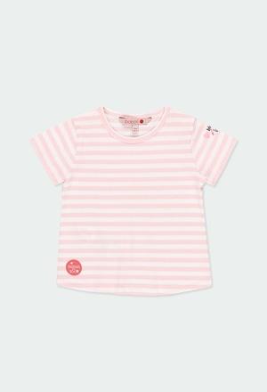 T-Shirt tricot à rayures pour bébé fille_1