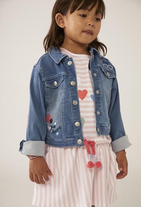 Kleid gestrickt gestreift für baby mädchen_1