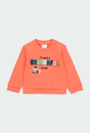 """Fleece sweatshirt """"letters"""" for baby girl_1"""