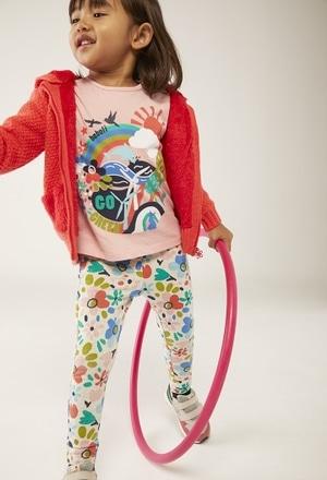"""Camiseta punto """"arco iris"""" de bebé niña_1"""