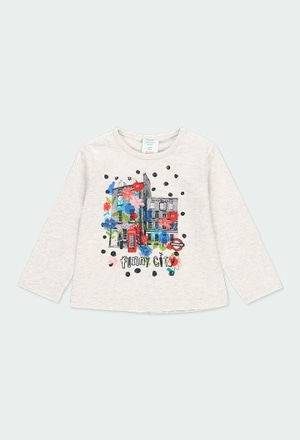 """Knit t-Shirt """"floral"""" for baby girl_1"""