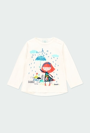Knit t-Shirt printed for baby girl_1