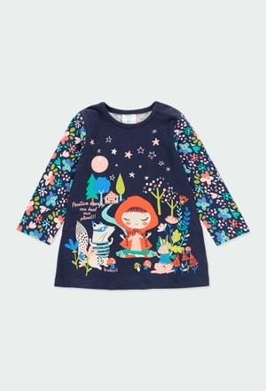 Kleid gestrickt gedruckt für baby mädchen_1