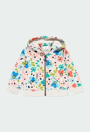 Fleece jacket floral for baby girl_1