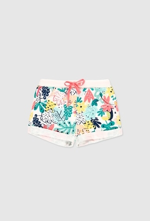 Stretch fleece shorts for baby girl_1