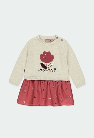 """Vestido tricot """"florzinhas"""" do bébé_1"""