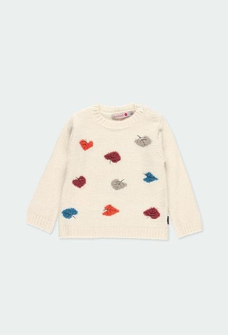 Pullover tricot corações para o bebé menina_1