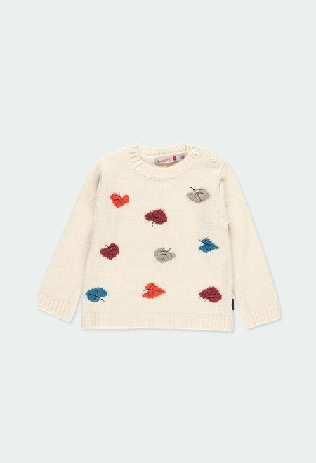 Knitwear pullover hearts for baby girl_1