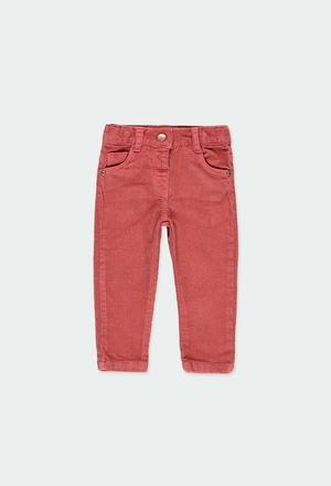 Pantalón pana elástica de bebé niña_1