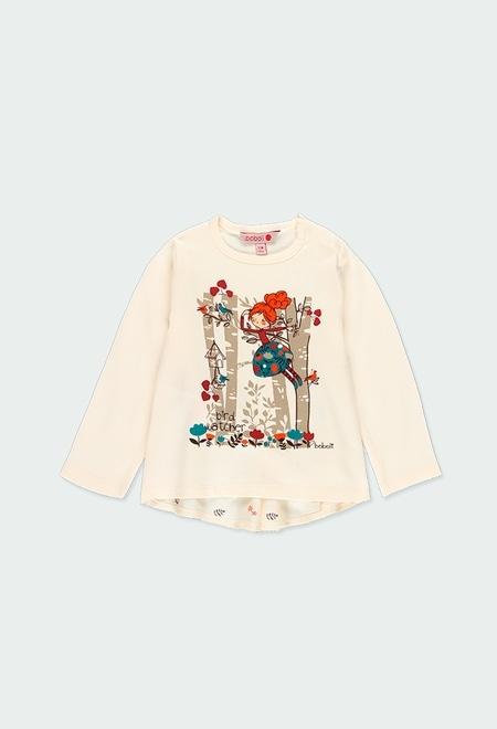 """T-Shirt tricot """"arbres"""" pour bébé fille_1"""