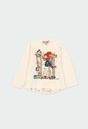 """Camiseta punto """"árboles"""" de bebé niña_1"""