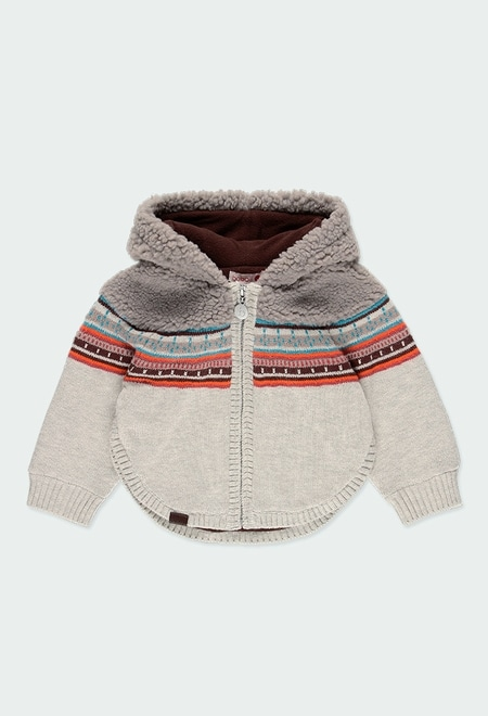 Knitwear jacket for baby girl_1