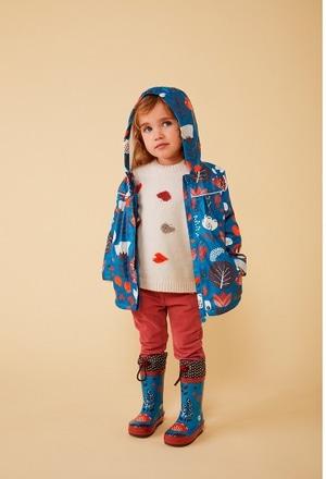 Regenmantel mit caputze blumen für baby_1