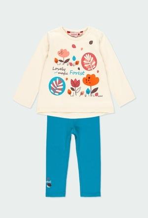 """Pack en tricot """"feuilles"""" pour bébé fille_1"""