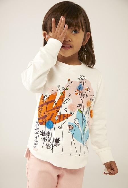 "Sweatshirt felpa ""floral"" para o beb? menina_1"