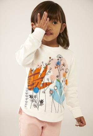 """Sudadera felpa """"floral"""" de bebé niña_1"""