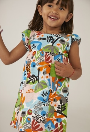 "Vestido malha ""floral"" para o bebé menina_1"