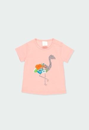 """Camiseta malha """"flamenco"""" para o bebé menina_1"""