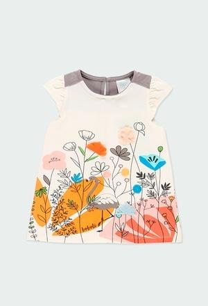 "Vestido malha ""floral"" para o beb? menina_1"