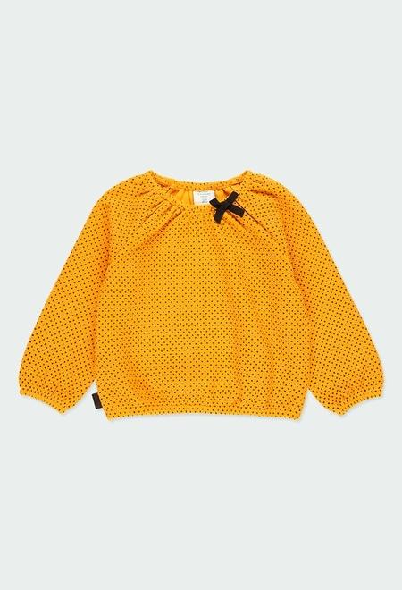 T-Shirt tricot a petits pois pour bébé fille_1