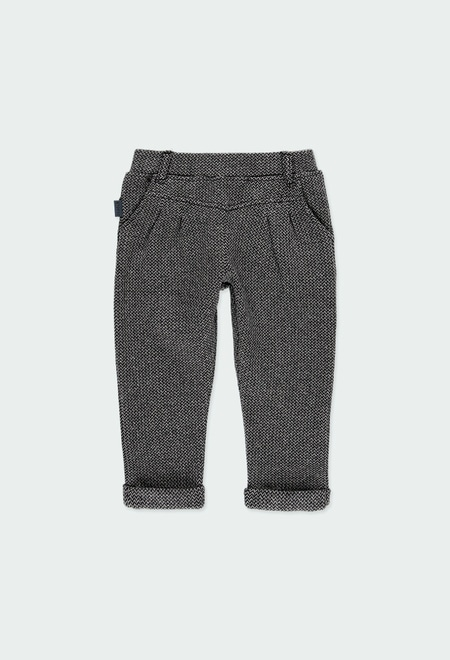 Knit trousers for baby girl_1