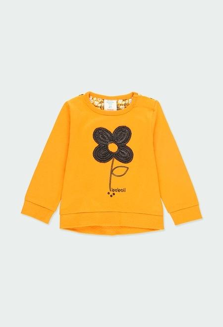 T-Shirt tricot combiné fleurs pour bébé_1