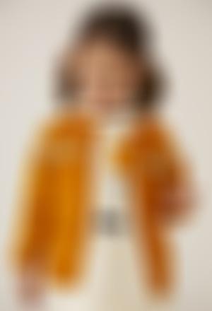Robe double face pour bébé fille