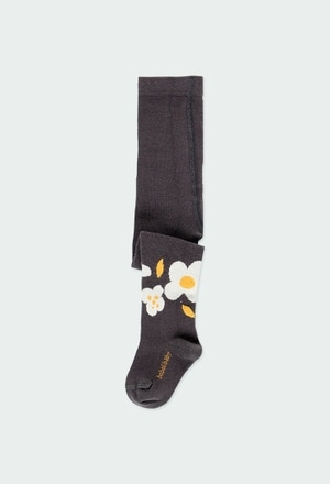 """Thick tights """"floral"""" for baby girl_1"""
