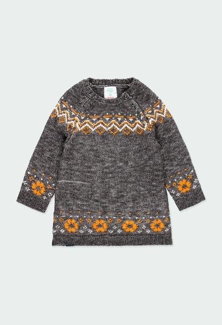 """Knitwear dress """"friezes"""" for baby girl_1"""