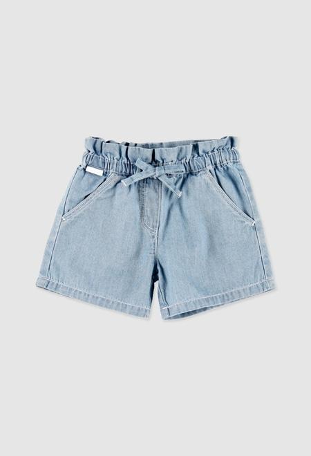 Denim bermuda shorts for baby girl_1