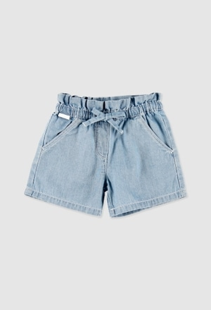 Denim bermuda shorts for baby girl_1
