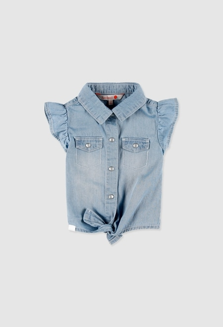 Shirt denim for baby girl_1