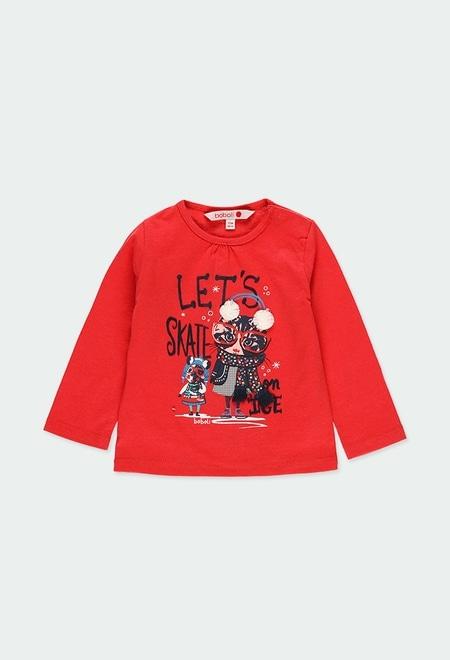"""T-Shirt gestrickt """"kätzchen"""" für baby mädchen_1"""