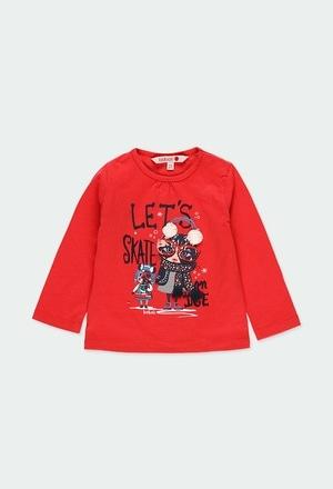 """Camiseta malha """"gatinho"""" para o bebé menina_1"""