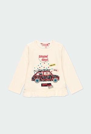 T-Shirt gestrickt mit rüschen für baby mädchen_1