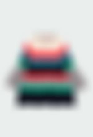 Knitwear dress striped for baby girl