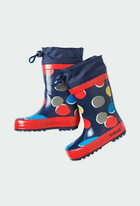 Boots polka dot for baby girl_1