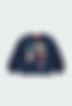 """Fleece sweatshirt """"floral"""" for baby girl"""