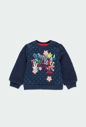 """Sweatshirt felpa """"floral"""" para o bebé menina_1"""