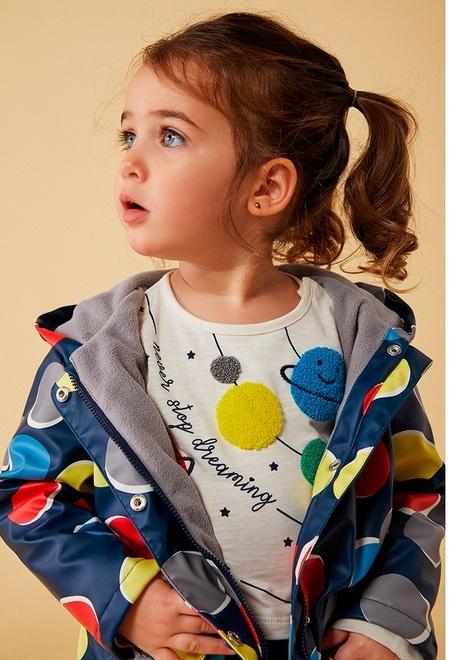 Hooded raincoat polka dot for baby_1