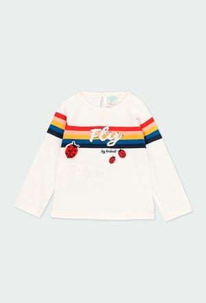 """T-Shirt tricot """"coccinelles"""" pour bébé fille_1"""