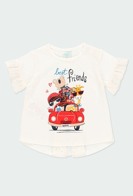 "T-Shirt tricot ""my bbl friends"" pour bébé fille_1"