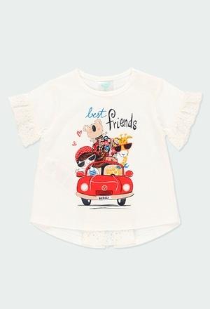 """Camiseta malha """"my bbl friends"""" para o bebé menina_1"""