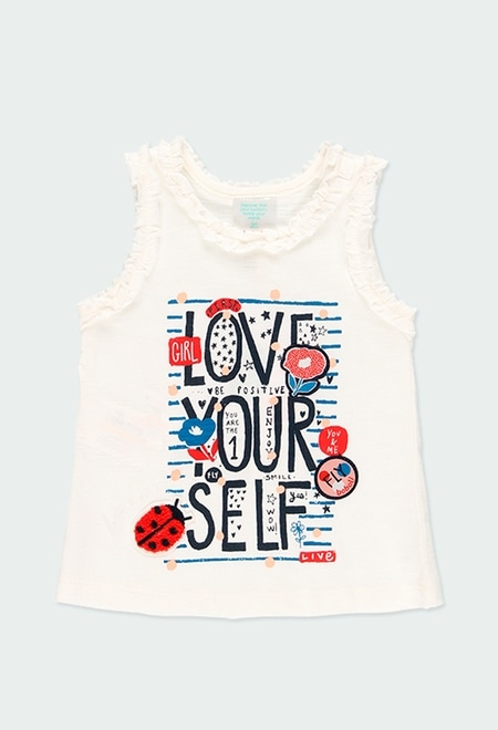 """Knit t-Shirt """"bbl love"""" for baby girl_1"""