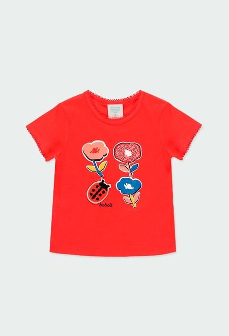 """T-Shirt gestrickt """"blumen"""" für baby mädchen_1"""